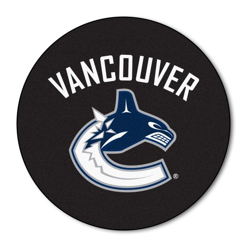 FANMATS NHL Vancouver Canucks Nylon Face Hockey Puck Rug