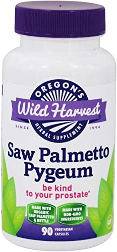 Oregons Wild Harvest Saw Palmetto Pygeum 90 Vegetarian Capsules