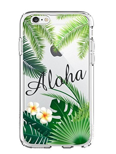 Shark Summer Collection Tropical ALOHA Hawaii Travel TPU case For (Iphone 7 Plus/Iphone 8 PLUS-Palm)