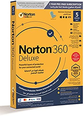 Norton Security Deluxe 3.0 2019 For 5Devices PC//Mac//Phone Digital Download