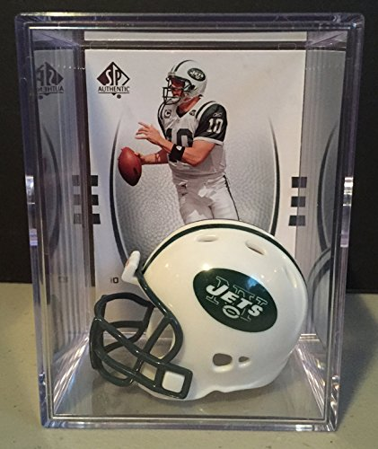 - New York Jets NFL Helmet Shadowbox w/ Chad Pennington card
