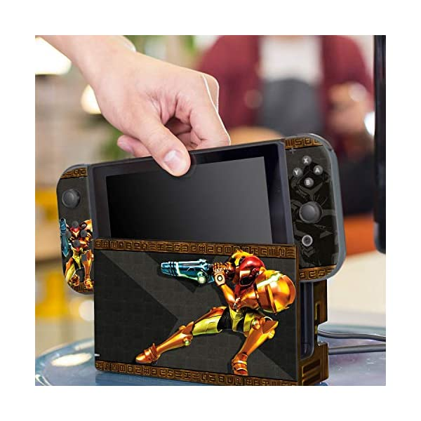 "Controller Gear Officially Licensed Nintendo Switch Skin & Screen Protector Set - Metroid - ""Samus"" - Nintendo Switch 6"