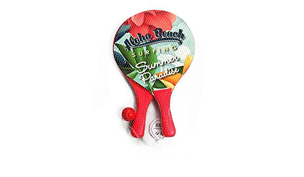 Amazon.com : DECOQ Beach Paddle Ball Rackets Classic Wood Beach Racket Games for Kids Beach Paddle Tennis Set for Beach Games : Sports & Outdoors