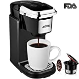 Kyпить Aicok Single Cup Coffee Maker, Single Serve Coffee Brewer with Removable Cover for Most Single Cup Pods including K-CUP pods, Quick Brew Technology, 800W, Black на Amazon.com