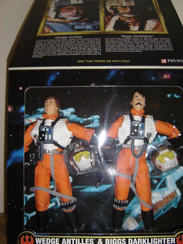 Star Wars: Power of the Force Wedge Antilles & Biggs Darklighter Large Doll