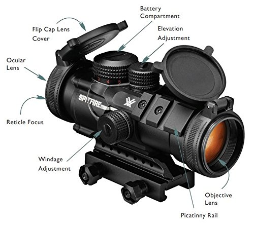 Vortex Optics Spitfire 3x Prism Scope - EBR-556B Reticle (MOA) by Vortex Optics (Image #5)