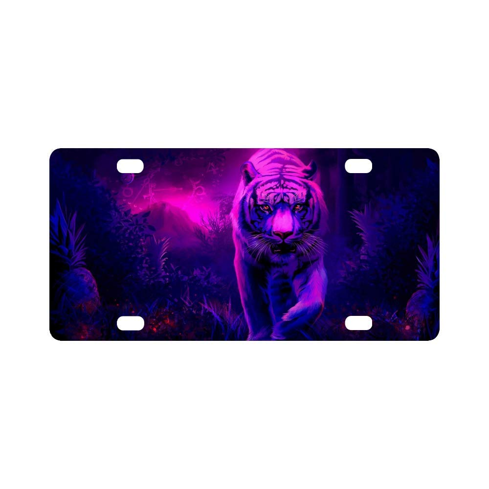 Metal License Plate Creative License Plate Label Tiger Home Wall Decoration License Plate Label 12'' x6