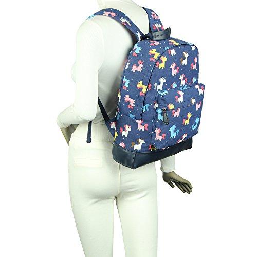 'Back JC Collection Bag to London UNICORN Designer Style Backpack Fuchsia Print New Childrens Kids School' Canvas Craze KIDS PvqwOnAxAa