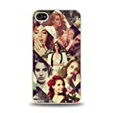 iPhone 4 4S case protective skin cover with American Pop Singer Lana Del Rey pretty design #14