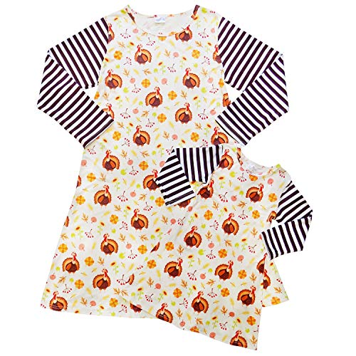 Cute Thanksgiving Outfits For Women (Mom Mommy & Me Dress, Tunic, T-Shirt - Toddler Girls Teens Moms - Matching Outfits (S (Child 3T), Thanksgiving)