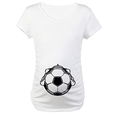 CafePress Soccer Baby Maternity T-Shirt Maternity Tee White at ... 3639a9a1b