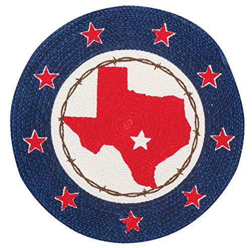 (Kay Dee Designs Home Sweet Texas Map Braided Placemat R3771)