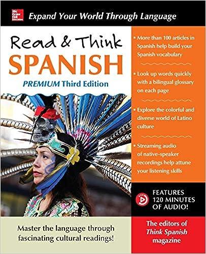 Amazon com: Read & Think Spanish, Premium Third Edition