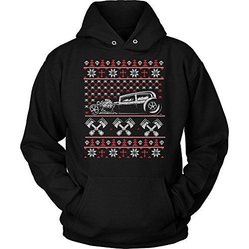 Motorhead Christmas - JoyHip.com Hot Rod Motorhead Ugly Christmas Sweater Unisex Hoodie For Men & Women