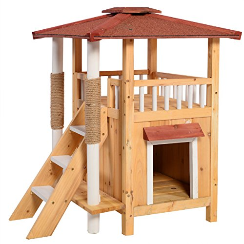 indoor-cat-house-outdoor-pet-shelter-roof-condo-wood-steps-balcony-puppy-stairs-free-e-book