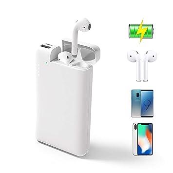 ATETION Power Bank 2 en 1 10000mAh Cargador portátil USB Tipo C Batería Externa con Estuche de Carga Compatible para iPhone AirPods Samsung Galaxy HTC ...