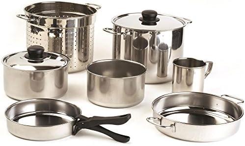 10 teilig acero inoxidable juego de utensilios de cocina ...
