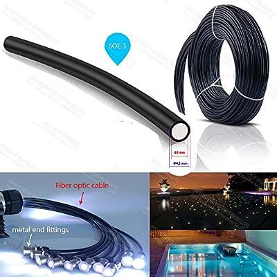 3mm PMMA end glow emitting optical fibra optica cable optic fiber for swimming pool light ceiling sauna light