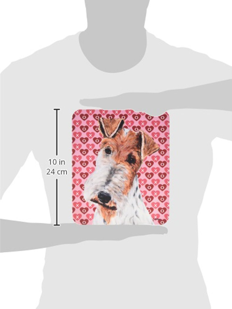 Caroline \'s Treasures Draht Fox Terrier Herzen & Love Maus Pad/Hot ...