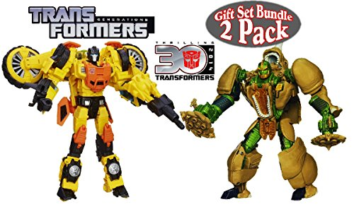 Transformers Generations 30th Anniversary Voyager Class Rhinox & Sandstorm Figures Gift Set Bundle - 2 Pack