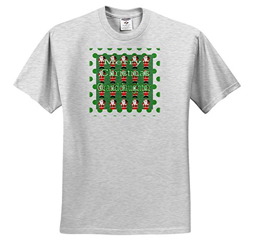 Birch Santa (3dRose Christmas For Special People - Image Of Merry Christmas Granddaughter With Rows Of Santas - T-Shirts - Toddler Birch-Gray-T-Shirt (2T) (TS_262538_31))