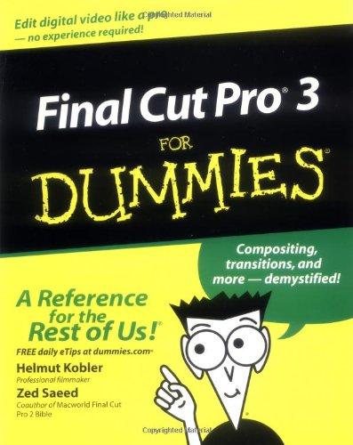 Read Online Final Cut Pro3 For Dummies PDF