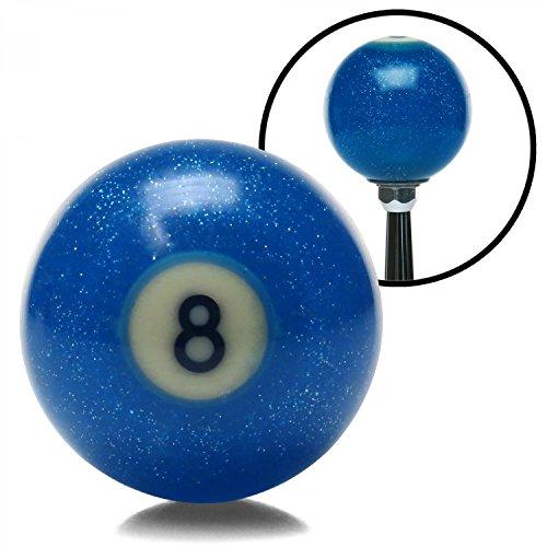 Custom Shift Ball (American Shifter Company ASCSN03021 Blue 8 Ball Custom Shift Knob Translucent with Metal Flake 18 degree vintage 426)
