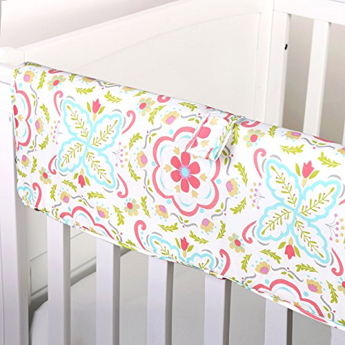 Gia Floral Crib Rail Guard by The Peanut Shell by The Peanut Shell