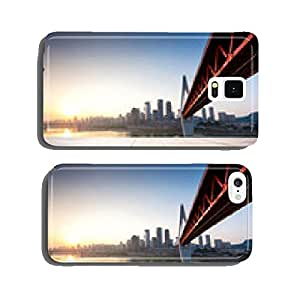 Empty floor in front of skyline and bridge cell phone cover case iPhone6 Plus