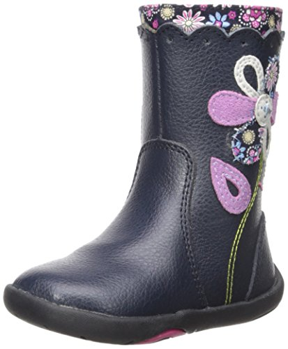 pediped Girls' Kenadi Boot, Navy, 21 EU/5.5 E US -