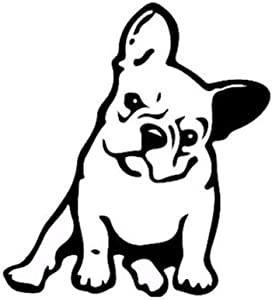 maxgoods French Bulldog Dog/Pet Vinyl Decal Car Window Wall Sticker Laptop Decal,5-Pack (Black)