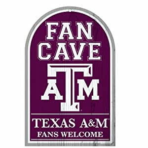 NCAA Texas A&M Aggies 11-by-17 inch Fan Cave Fans Welcome Wood Sign