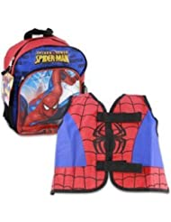 SPIDER-MAN KIDDY BACK PACK with VEST - Toddler Size Spiderman Backpack