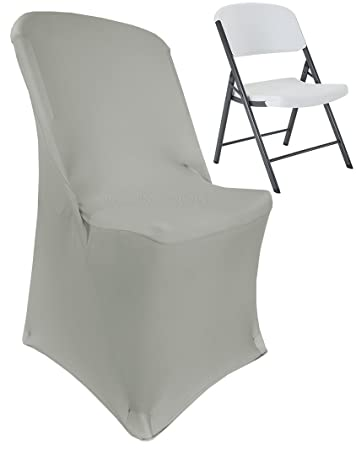 Admirable Wedding Linens Inc 2 Pcs Lifetime Spandex Stretch Fitted Folding Chair Covers Wedding Party Decoration Chair Cover Silver Creativecarmelina Interior Chair Design Creativecarmelinacom