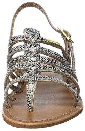 Les Tropéziennes par M. Belarbi Herbier, Sandalias con Correa de Tobillo Para Mujer Beige (Serpent Beige)