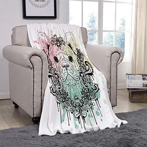 french bulldog fleece fabric - 5