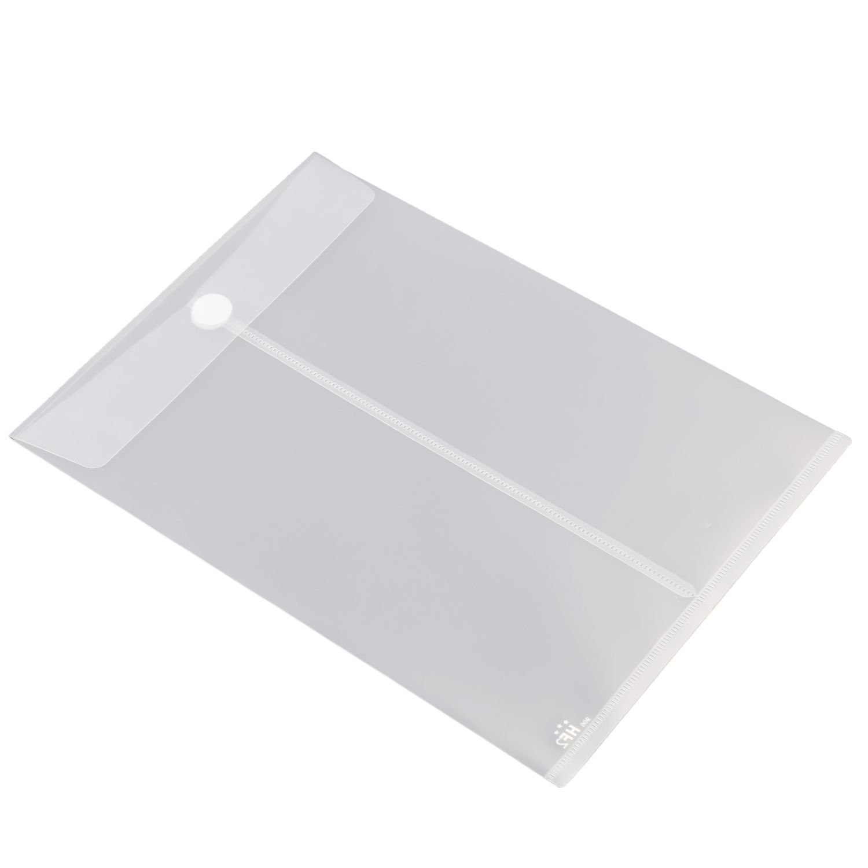 HF2 179061 Dokumententaschen A4 Hochformat mit Klettverschluss 10 St/ück Klar Wei/ß