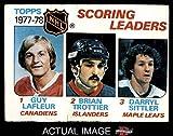 1978 Topps # 65 League Leaders Guy Lafleur / Brian Trottier / Darryl Sittler Canadiens / Islanders / Maple Leafs (Hockey Card) Dean's Cards 2 - GOOD Canadiens / Islanders / Maple Leafs