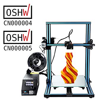 Creality Open Source CR-10 3D Printer All Metal Frame 12x12x15.5 Inch Build Volume and Heated Bed Includes Glass Bed Large Print Size 300X300X400mm