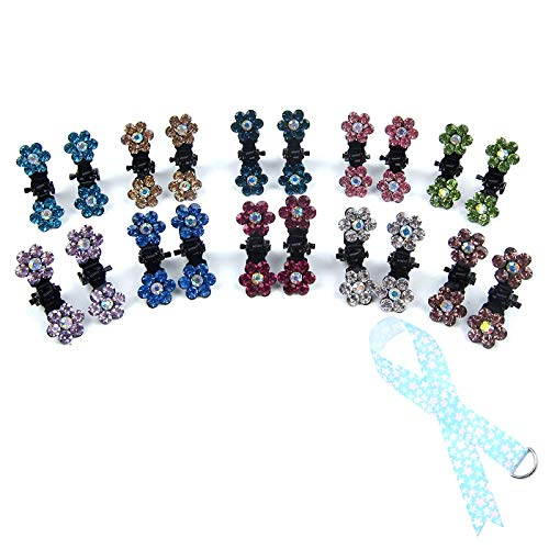 (Alfie Pet by Petoga Couture - Dasie Rhinestone Flower Hair Clip 20-Piece Set for Dogs, Cats and Small Animals)