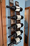 Wine Rack, 5 - Bottle Wine Stave wine rack with steel banding