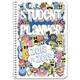 """BookFactory 2018-2019 Doodle Student Planner/Agenda/Organizer/Calendar (132 Pages) - 6"""" X 9"""" Wire-O (CAL-136-69CW-A(Doodle-Planner18-19))"""