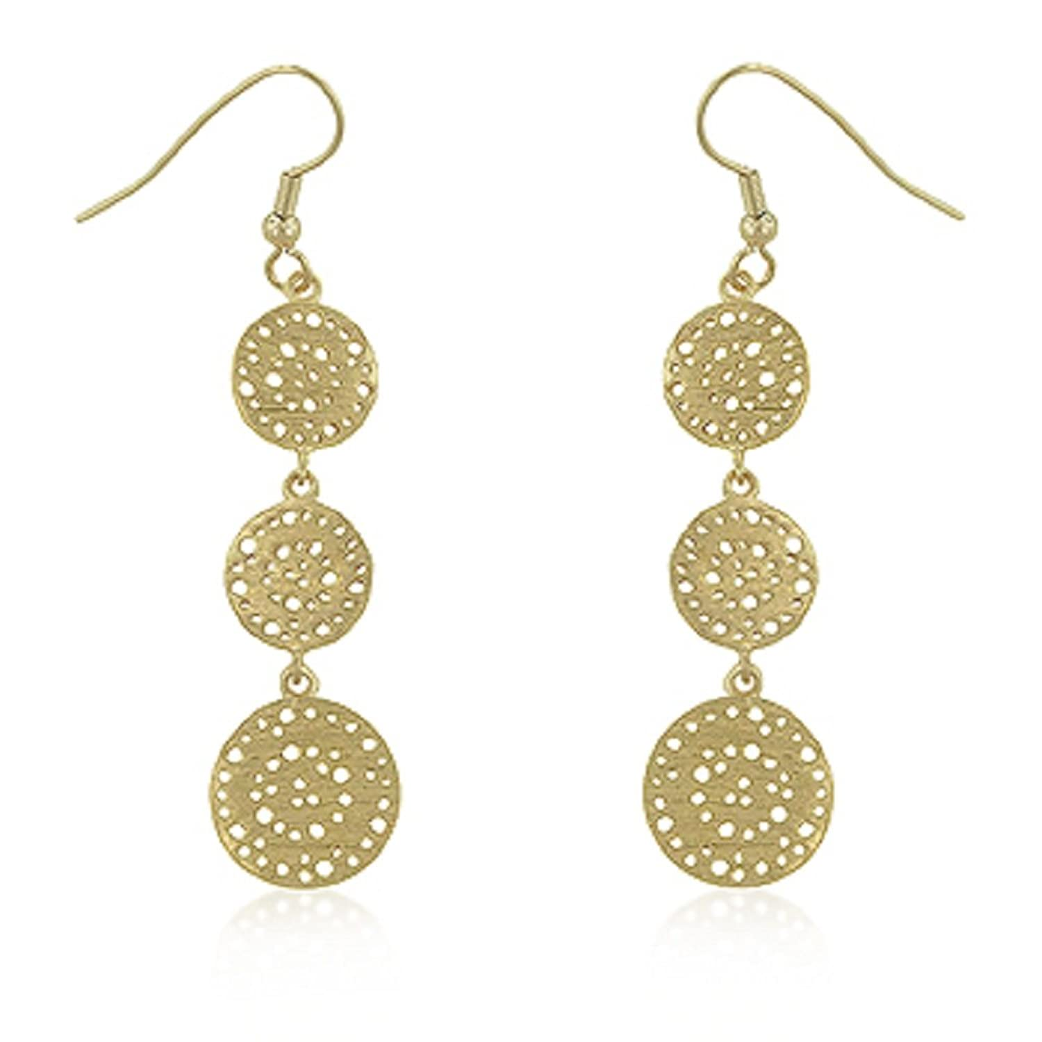 caprice circle earrings