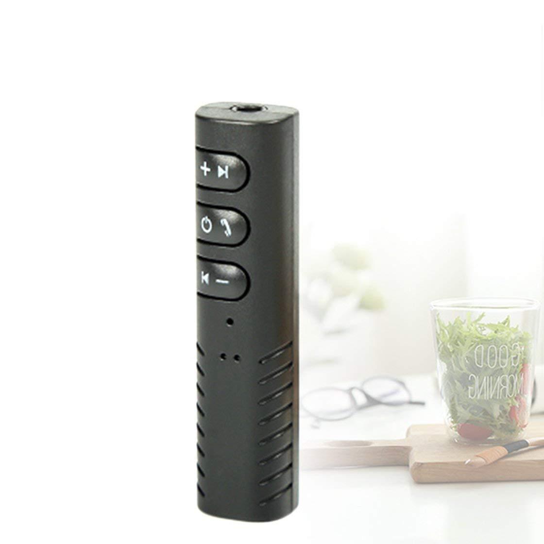 Laurelmartina Mini Wireless Bluetooth 4.1 Receptor de Manos Libres 3.5mm Adaptador de Audio automá tico con micró fono para Coche esté reo telé fono MP3