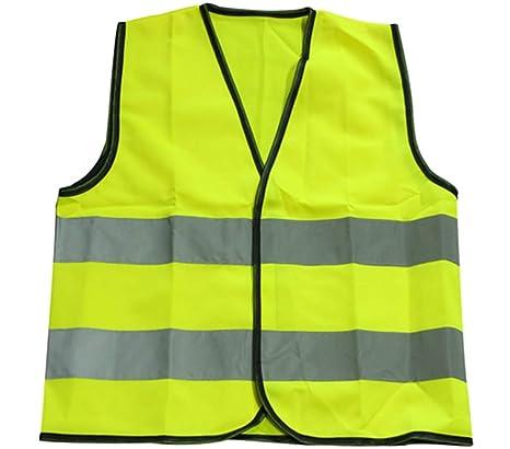 1bee24dbf45 Egurs Chaleco Reflectante para niños Ropa Protectora de Seguridad para  niños Hi Vis Chaleco Amarillo