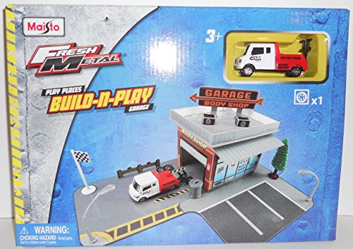 Maisto Play Places Build-N-Play Garage and Tow (Tow Truck Playset)