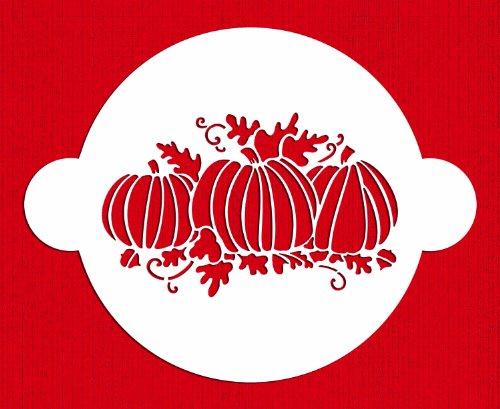 Designer Stencils C280 Pumpkin Patch Cake Stencil, Beige/semi-transparent -