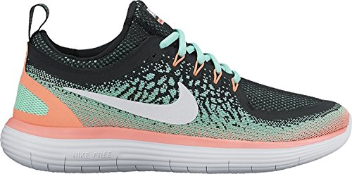 Nike Womens Free RN Distance 2 Running, Chaussures de Fitness Femme Blanc/Turquoise Hyper
