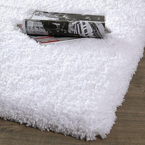 NORCHO Soft Microfiber Non-Slip Rubber Luxury Area Rug for Livingroom Bedroom Bathroom Decor Machine Washable 2.6 x 3.9ft /80 x 120cm White ()