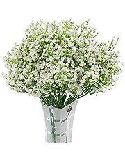 Homcomoda Artificial Flowers Babies Breath Flowers Fake Gypsophila Plants Bouquets for Wedding Home DIY Decoration (A-White, 12PC)
